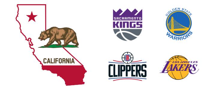 California NBA Basketball Teams 1