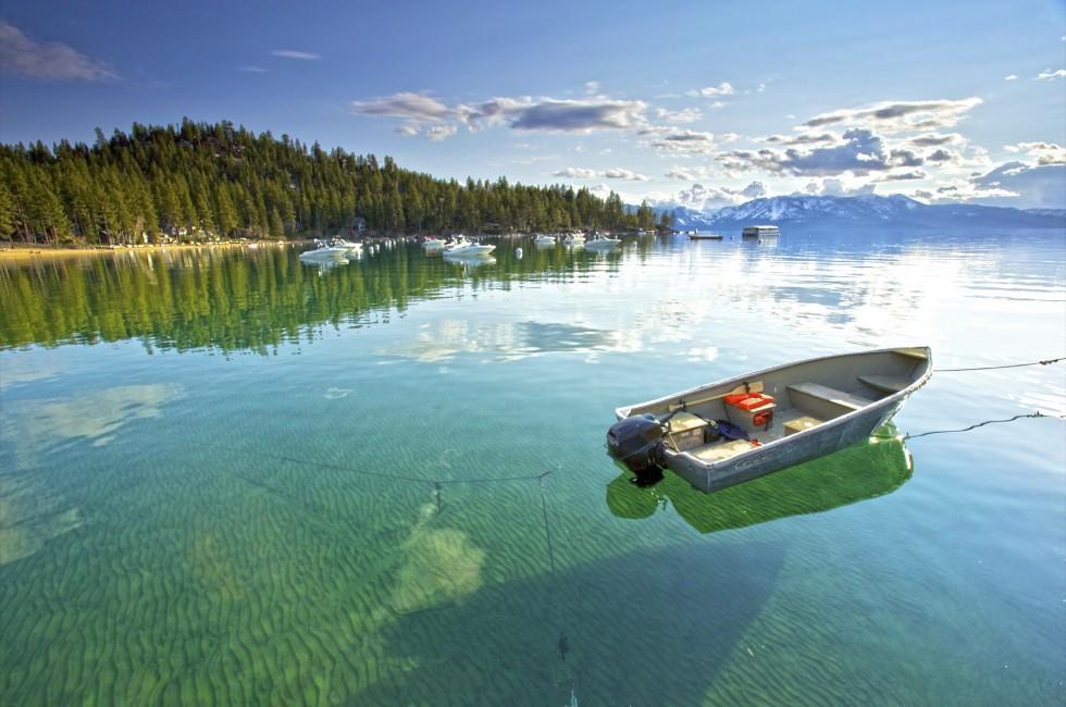 Boat Landscape Lake Tahoe California Usa 980x650