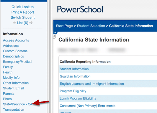 Step 4 Go To The Stateprovince Ca Page Using The Blue Nav