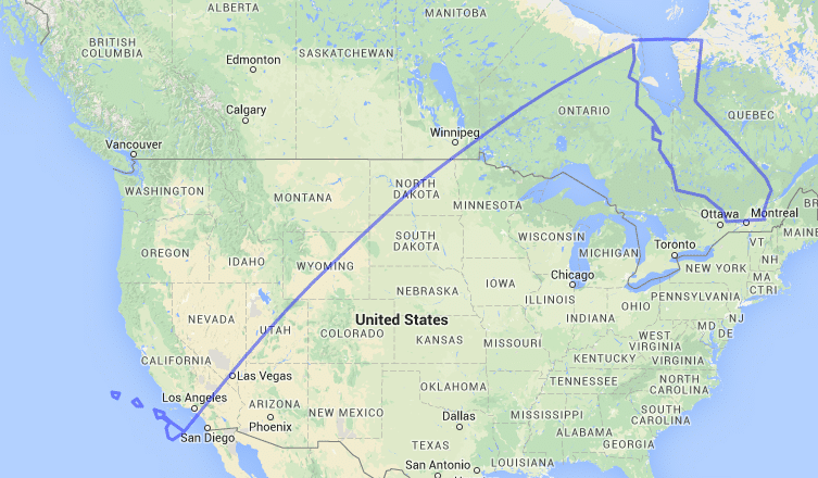 How far is it to hawaii from California.