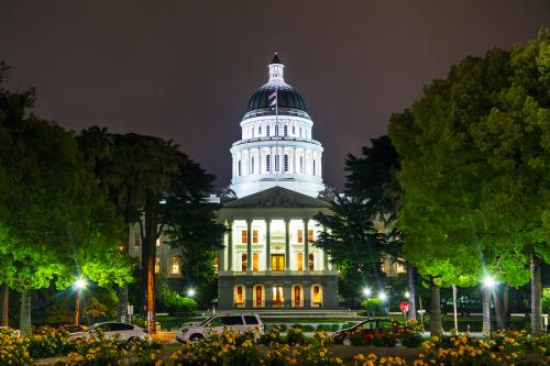 California State Capitol Building Night 0