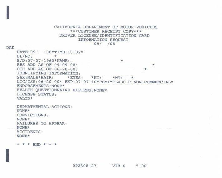 Ca Dmv Example 01
