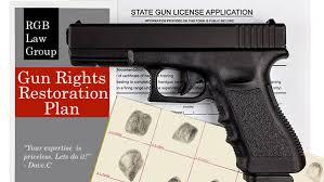 How to restore gun rights in Сalifornia