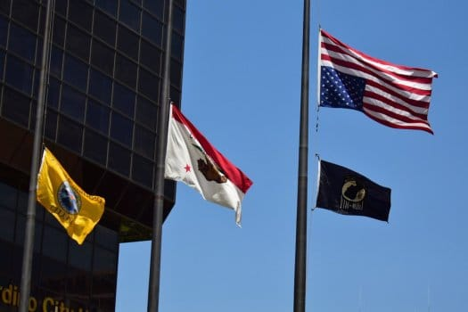 Why is flag at half mast today in California